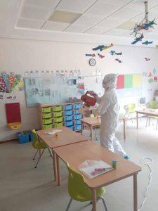 okul ve kreş dezenfeksiyonu
