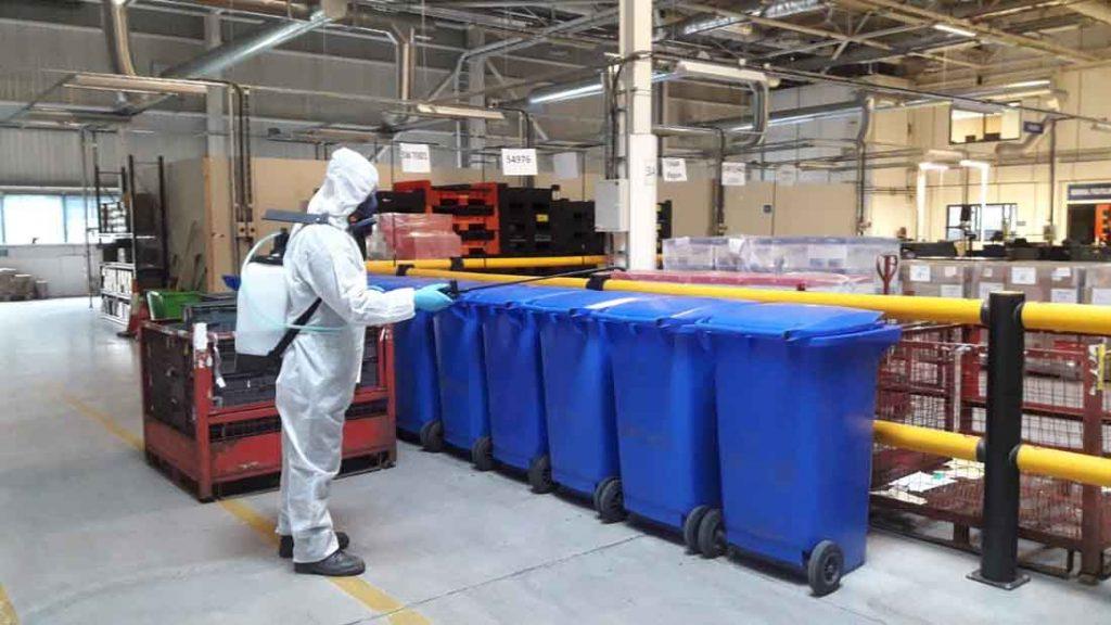 fabrika dezenfeksiyonu